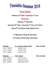 Joanna Mardon School of Dance Summer 2018 Timetable pdf download