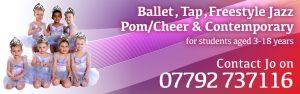 Joanna Mardon School of Dance Exeter Ballet Jazz Tap Pom Cheer Contemporary header