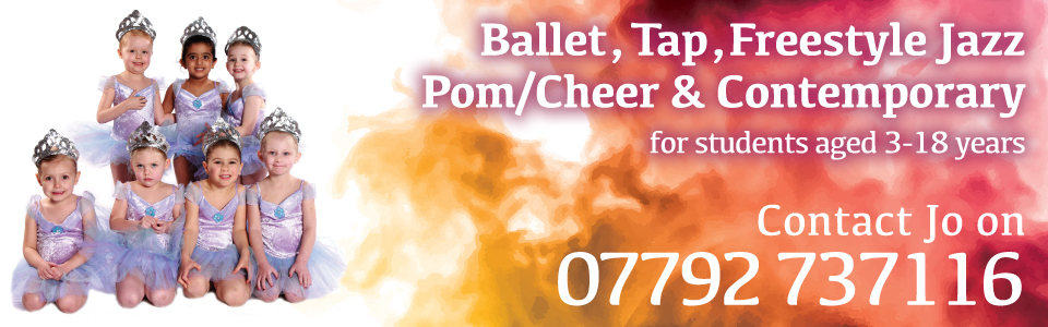 Joanna Mardon School of Dance Exeter Ballet Jazz Tap Pom Cheer Contemporary header