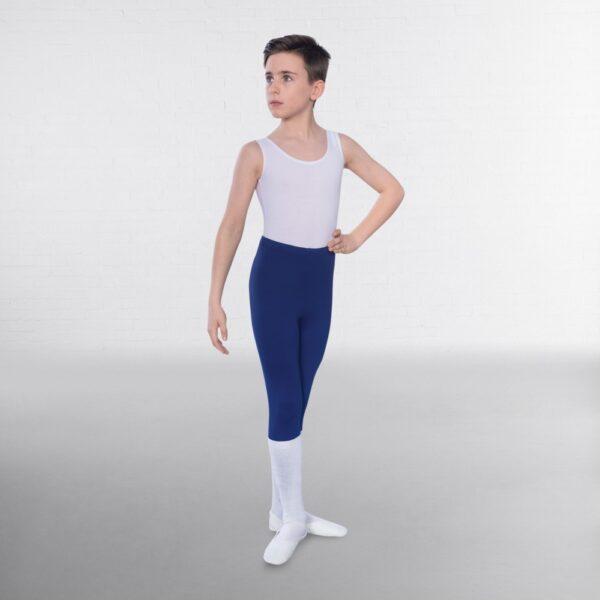 Joanna Mardon School of Dance Grade 3+ Ballet Boys 1st Position Navy Stirrup Leggings