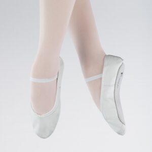 1st Position Boys White Leather Ballet