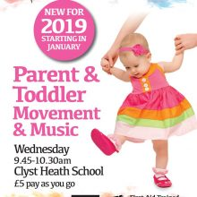 Parent and Toddler Movement and Music Class  STARTS WEDNESDAY 9th JANUARY