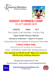 Joanna Mardon School of Dance Summer School Disney Camp 2019 PDF download