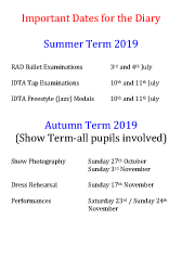 Joanna Mardon School of Dance Important Dates for the Diary 2019 pdf download