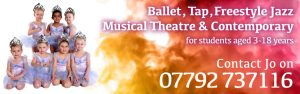 Joanna Mardon School of Dance Exeter ballet tap freestyle jazz musical theatre contemporary dance classes website header