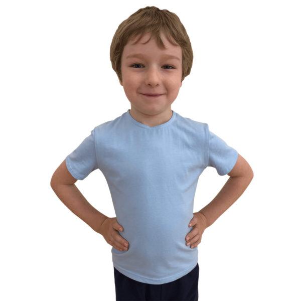 1st Position Boys Short Sleeved Blue T-Shirt Ballet Uniform Joanna Mardon School of Dance