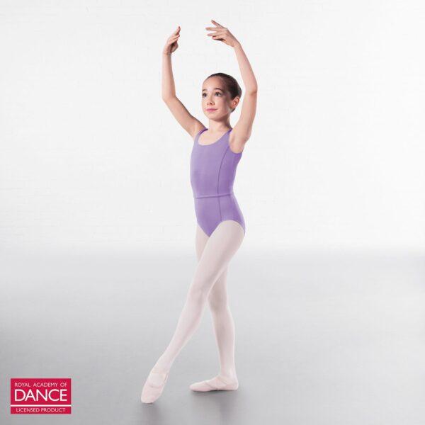 Joanna Mardon School of Dance Ballet Grade 6-8 leotard lilac front